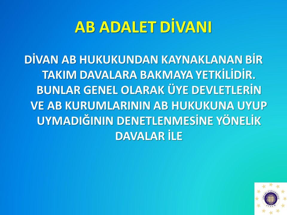 AB ADALET DİVANI