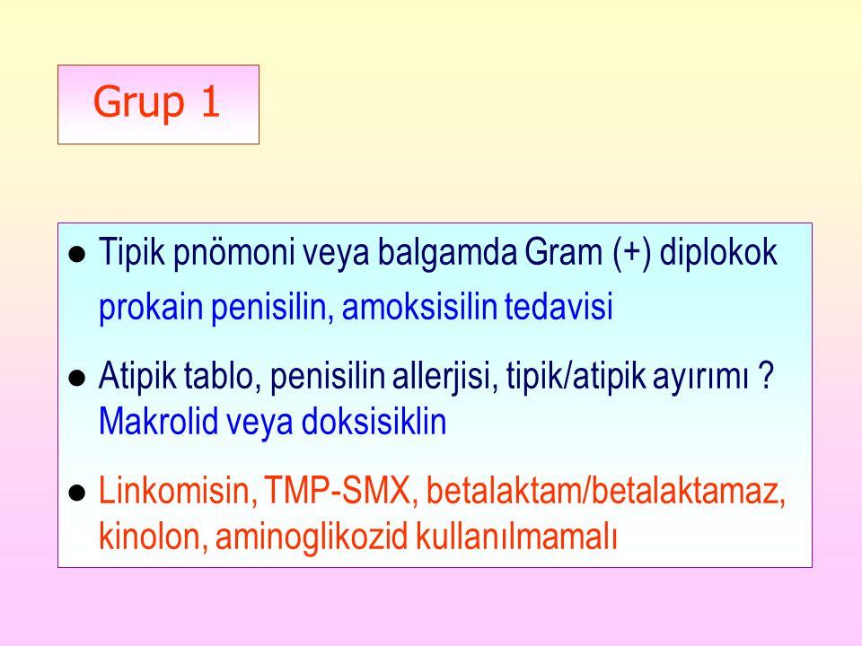 Tipik pnömoni veya balgamda Gram (+) diplokok
