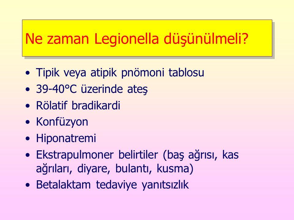 Ne zaman Legionella düşünülmeli