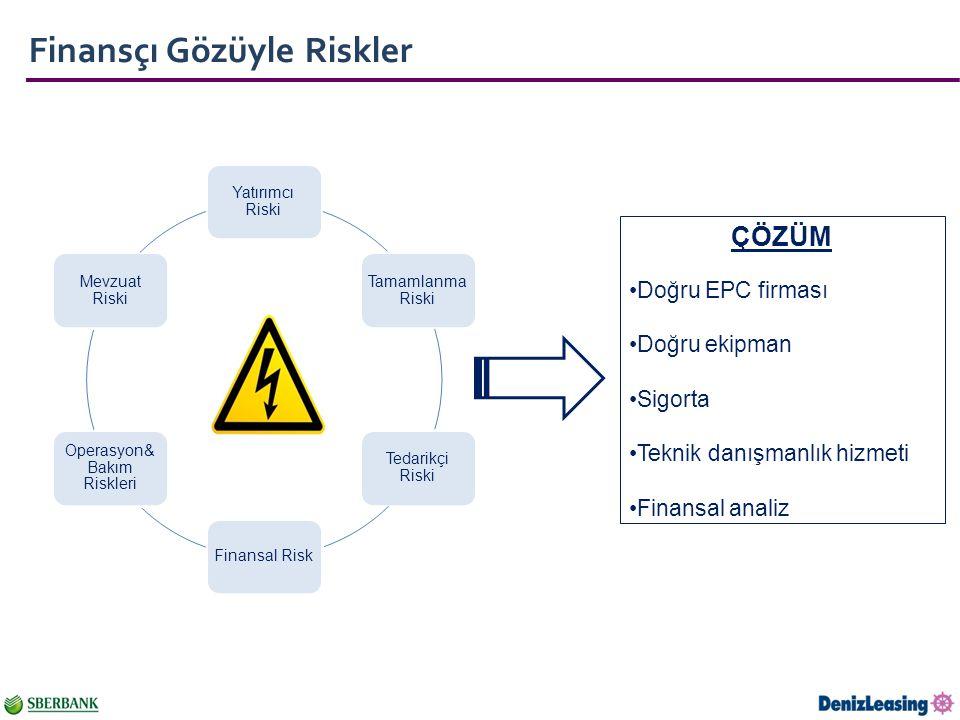 Operasyon& Bakım Riskleri