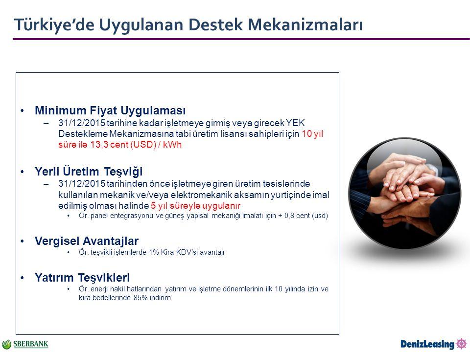 Türkiye'de Uygulanan Destek Mekanizmaları