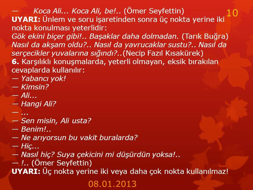 10 08.01.2013 — Koca Ali... Koca Ali, be!.. (Ömer Seyfettin)