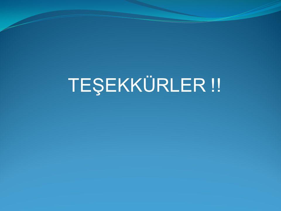 TEŞEKKÜRLER !!
