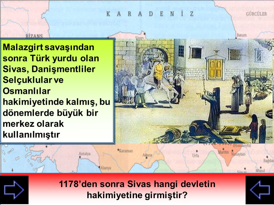 1178'den sonra Sivas hangi devletin hakimiyetine girmiştir