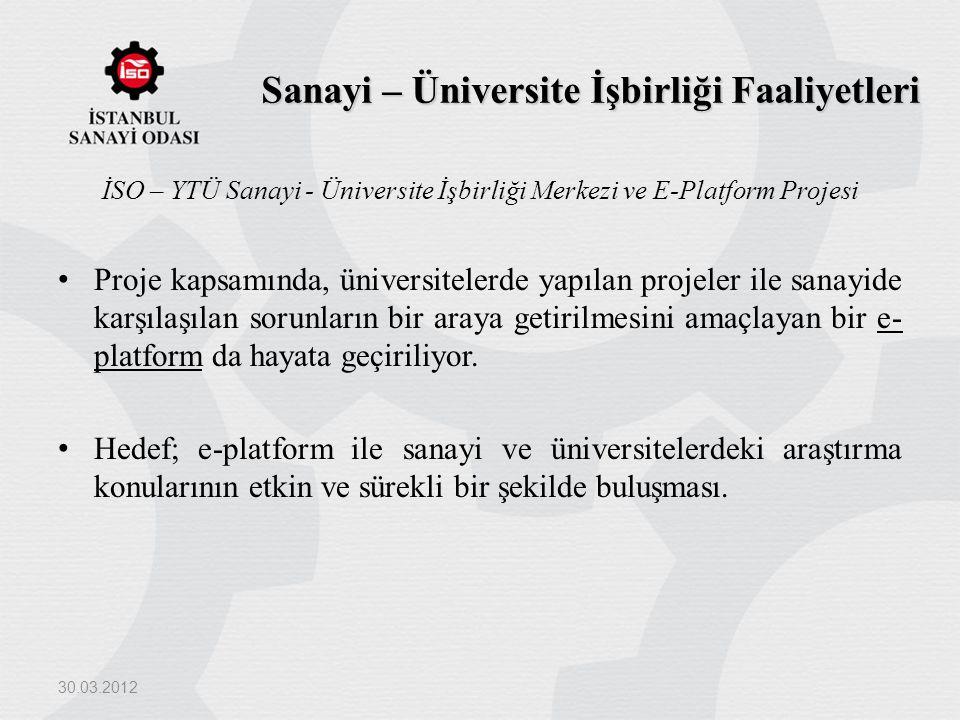 Sanayi – Üniversite İşbirliği Faaliyetleri