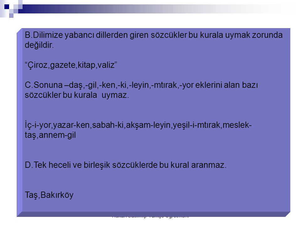 Hakan Satılmış/ Türkçe Öğretmeni