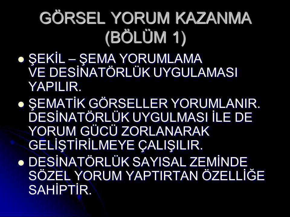 GÖRSEL YORUM KAZANMA (BÖLÜM 1)
