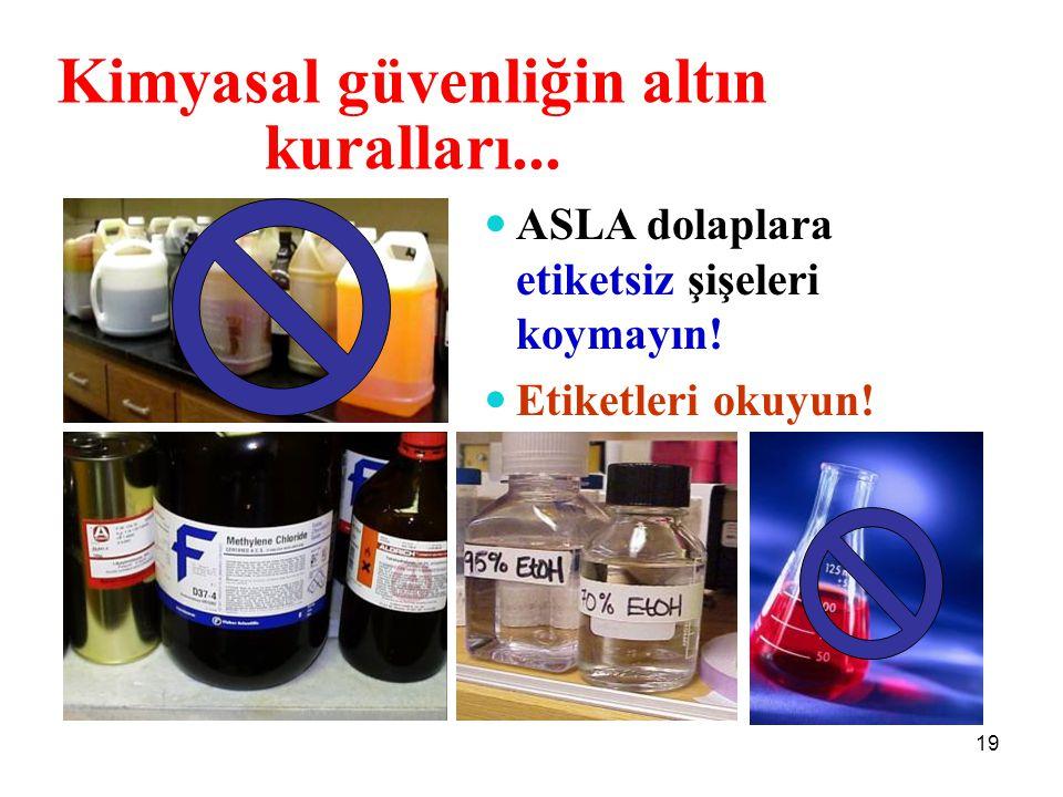 Kimyasal güvenliğin altın kuralları...