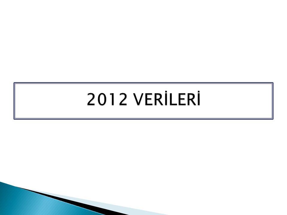2012 VERİLERİ