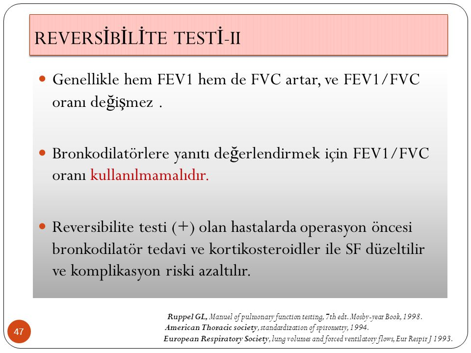 REVERSİBİLİTE TESTİ-II