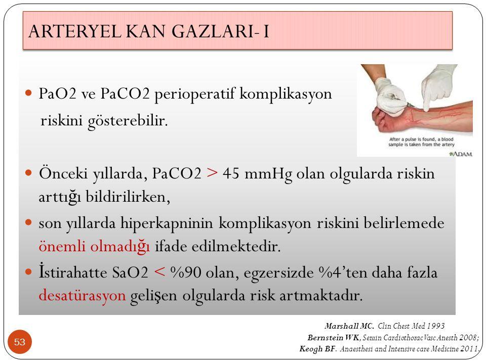 ARTERYEL KAN GAZLARI- I