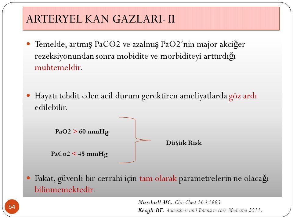 ARTERYEL KAN GAZLARI- II