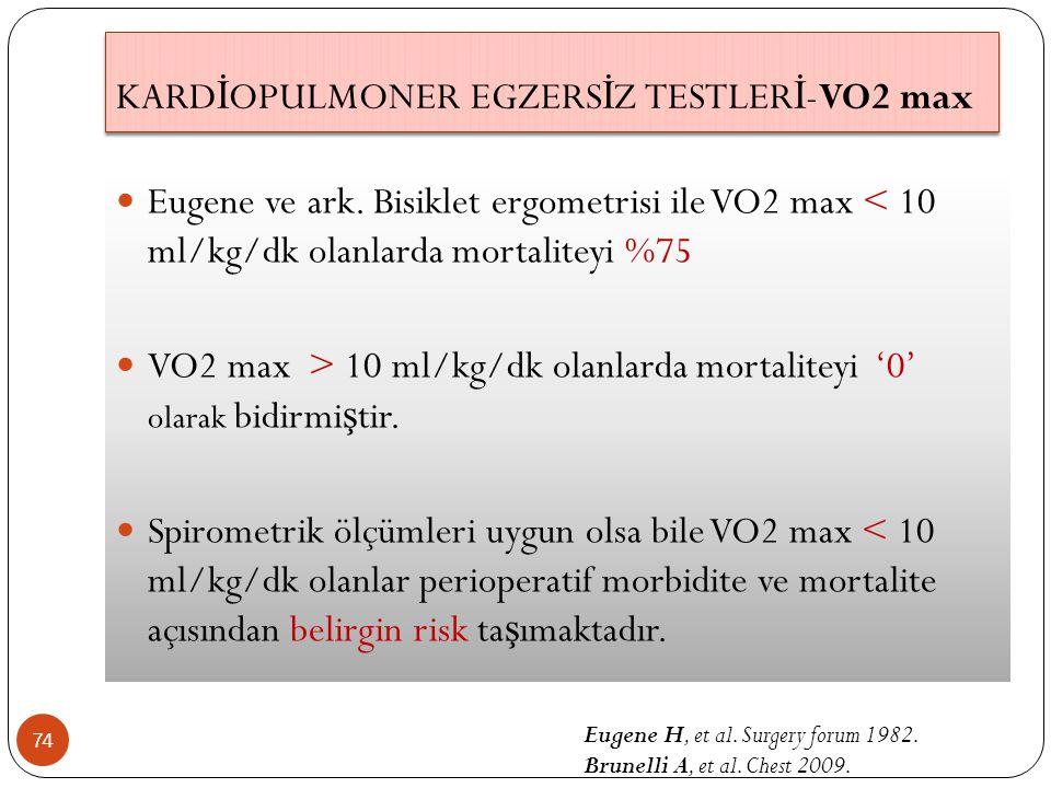 KARDİOPULMONER EGZERSİZ TESTLERİ-VO2 max