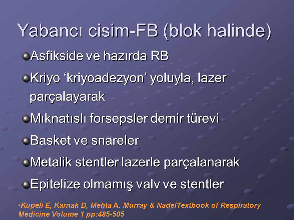 Yabancı cisim-FB (blok halinde)
