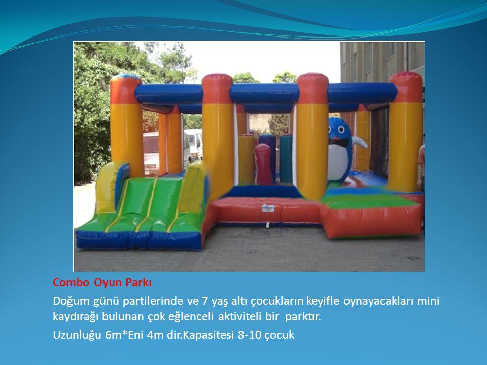 Combo Oyun Parkı Doğum günü partilerinde ve 7 yaş altı çocukların keyifle oynayacakları mini kaydırağı bulunan çok eğlenceli aktiviteli bir parktır.