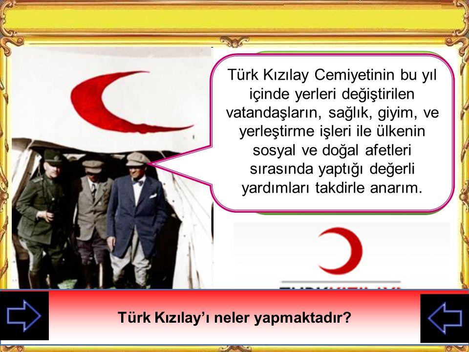 Türk Kızılay'ı neler yapmaktadır
