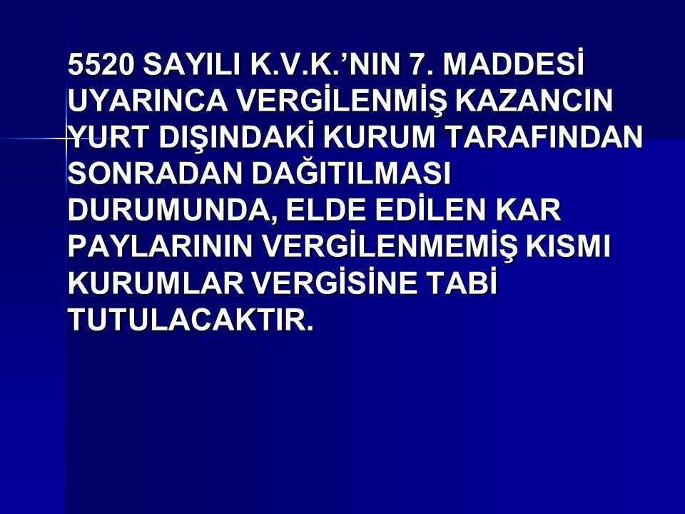 5520 SAYILI K.V.K.'NIN 7.