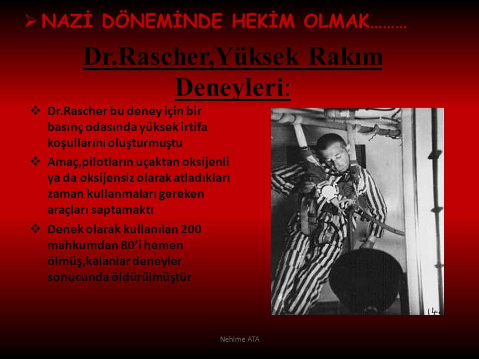 Dr.Rascher,Yüksek Rakım Deneyleri: