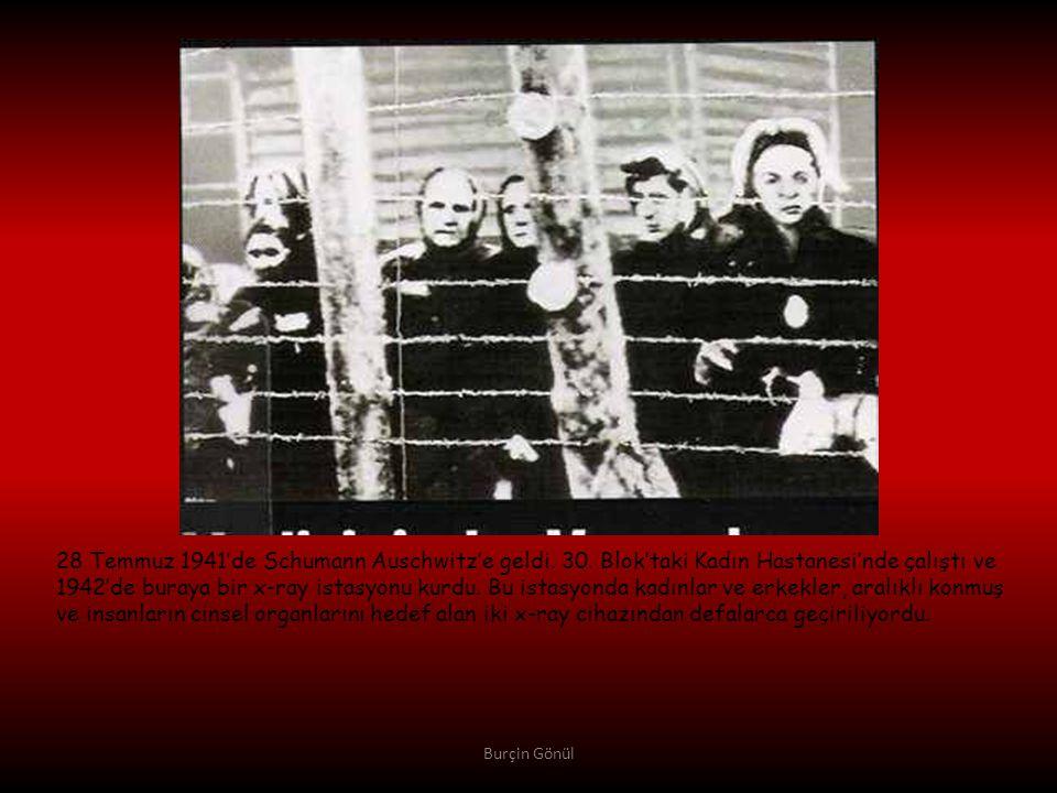28 Temmuz 1941'de Schumann Auschwitz'e geldi. 30