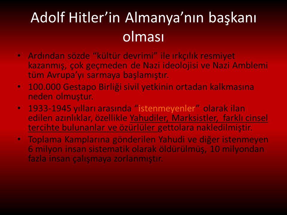 Adolf Hitler'in Almanya'nın başkanı olması