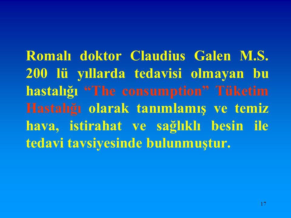 Romalı doktor Claudius Galen M. S
