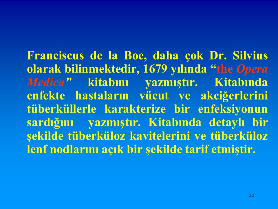 Franciscus de la Boe, daha çok Dr