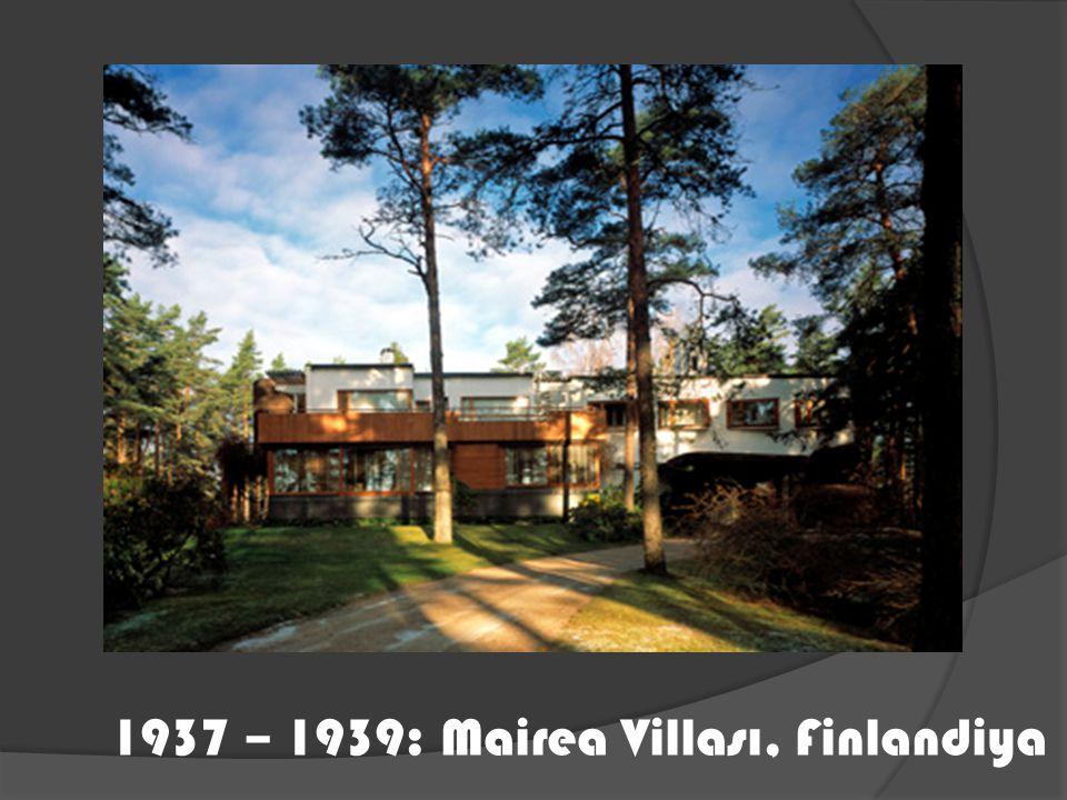 1937 – 1939: Mairea Villası, Finlandiya
