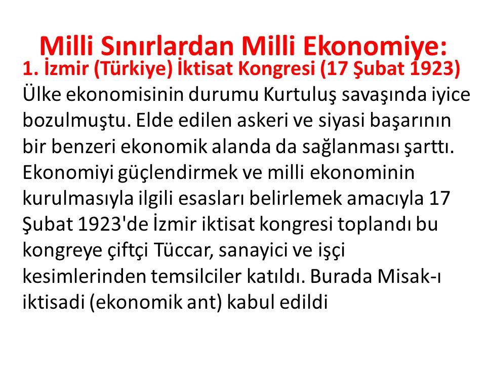 Milli Sınırlardan Milli Ekonomiye: