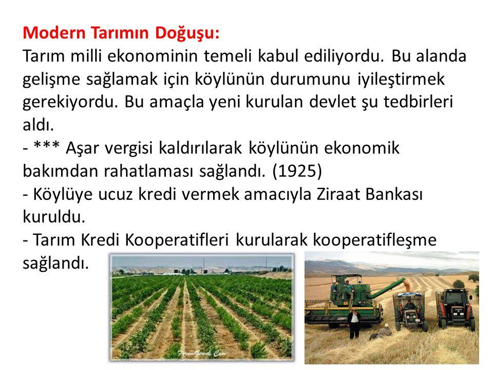 Modern Tarımın Doğuşu: Tarım milli ekonominin temeli kabul ediliyordu