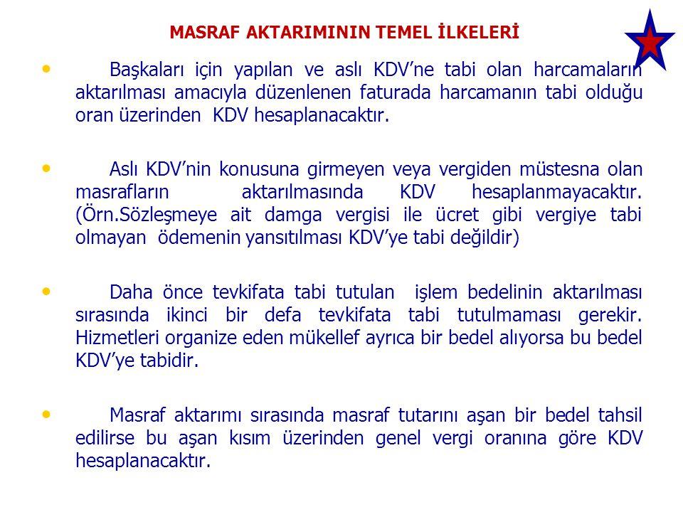 MASRAF AKTARIMININ TEMEL İLKELERİ