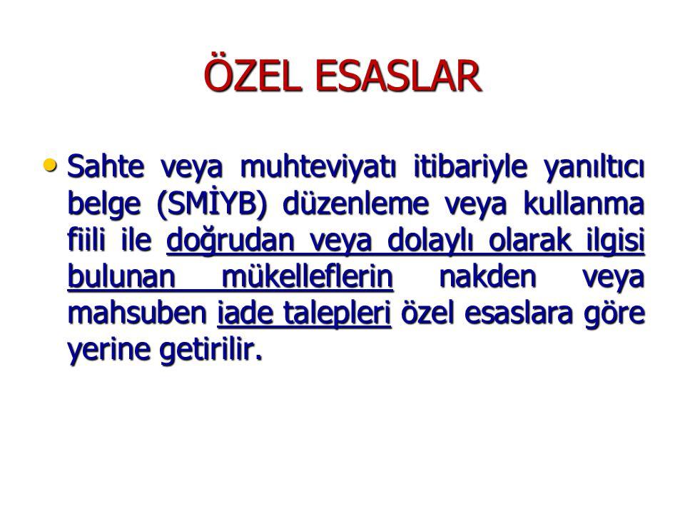 ÖZEL ESASLAR