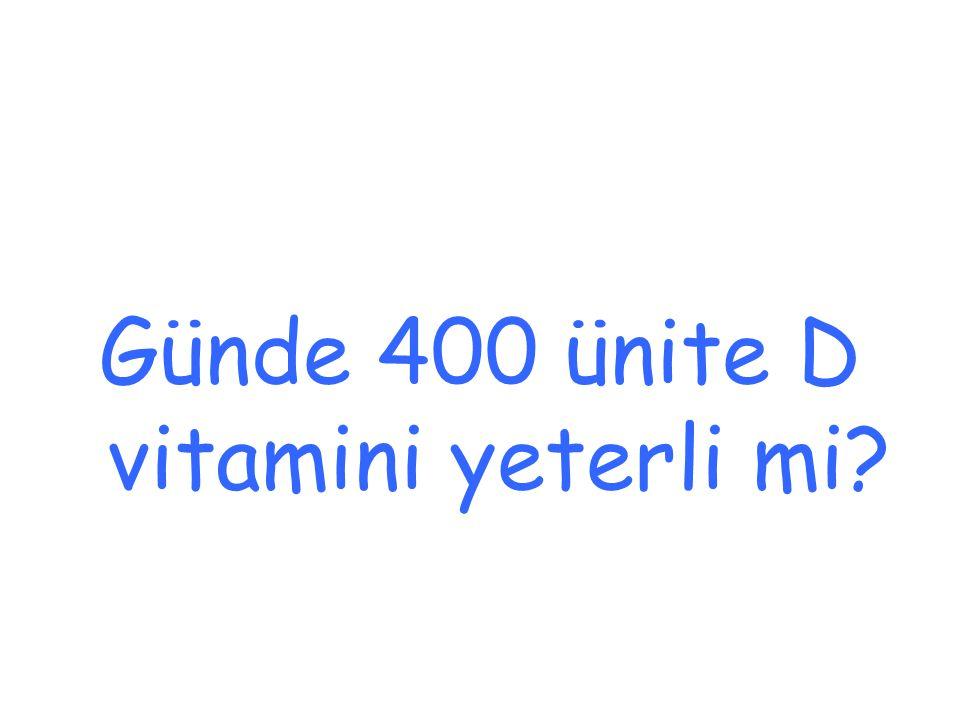 Günde 400 ünite D vitamini yeterli mi
