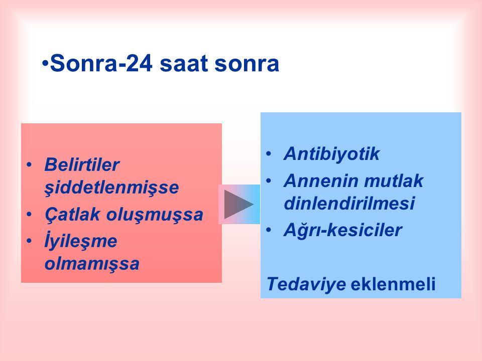 Sonra-24 saat sonra Antibiyotik Belirtiler şiddetlenmişse