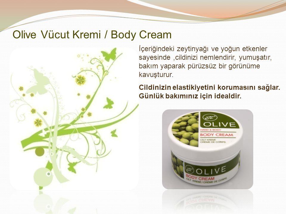 Olive Vücut Kremi / Body Cream