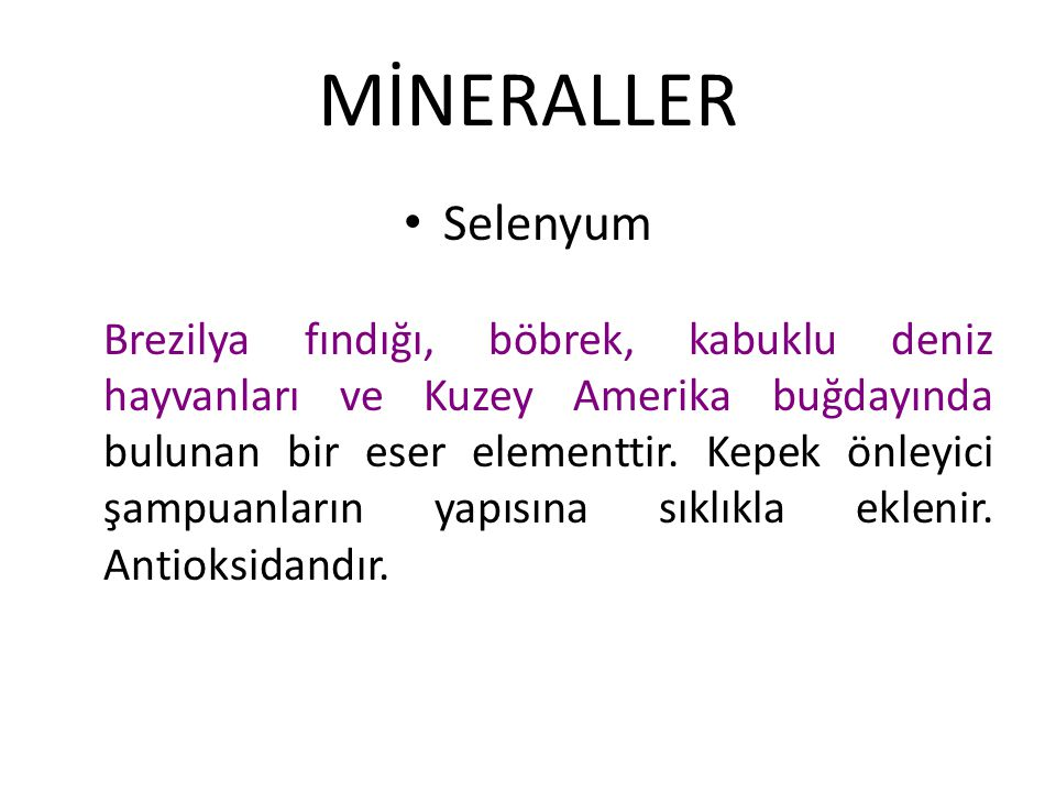 MİNERALLER