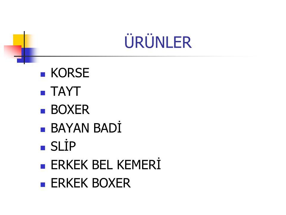 ÜRÜNLER KORSE TAYT BOXER BAYAN BADİ SLİP ERKEK BEL KEMERİ ERKEK BOXER