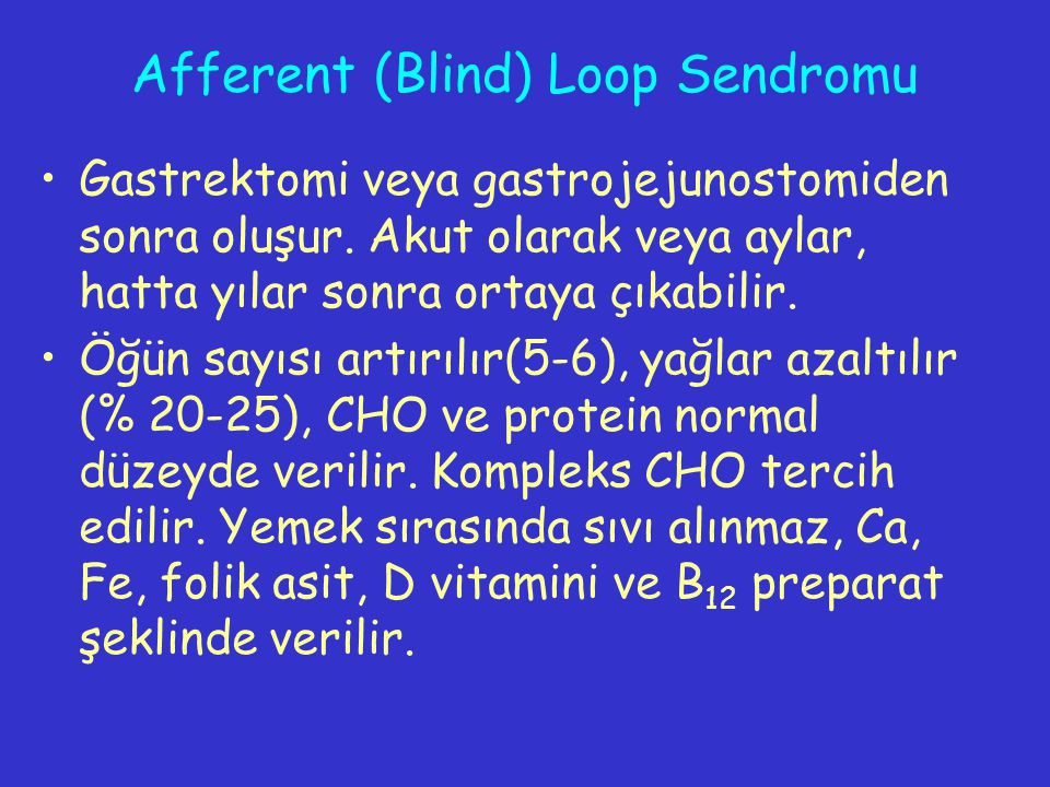 Afferent (Blind) Loop Sendromu