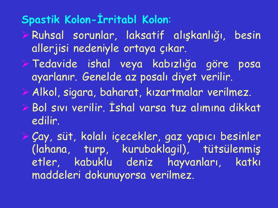 Spastik Kolon-İrritabl Kolon: