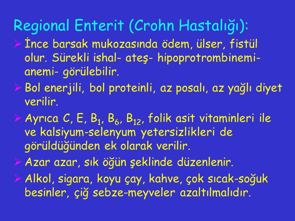 Regional Enterit (Crohn Hastalığı):