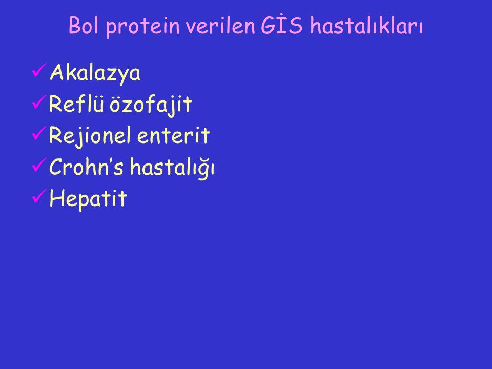 Bol protein verilen GİS hastalıkları
