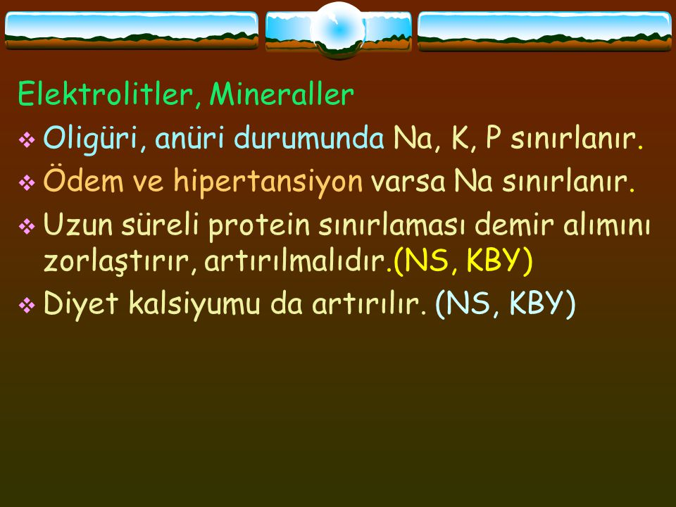 Elektrolitler, Mineraller