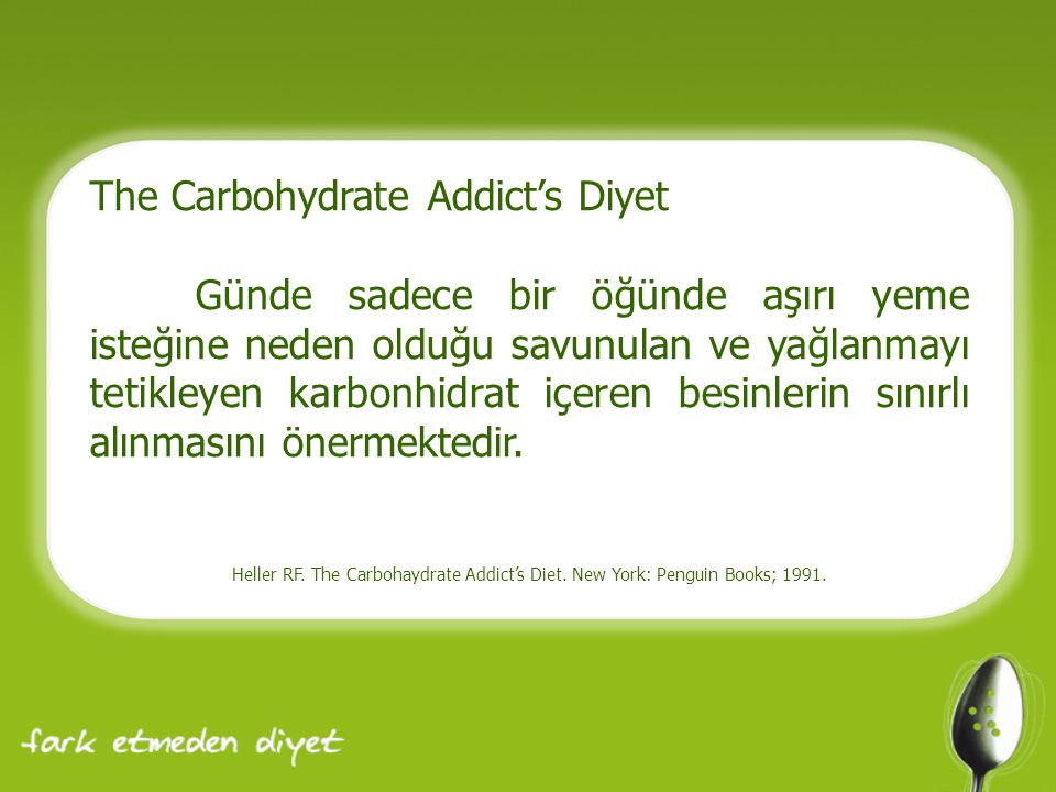 The Carbohydrate Addict's Diyet