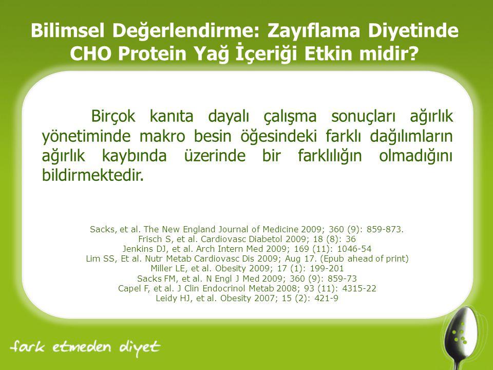 Bilimsel Değerlendirme: Zayıflama Diyetinde CHO Protein Yağ İçeriği Etkin midir