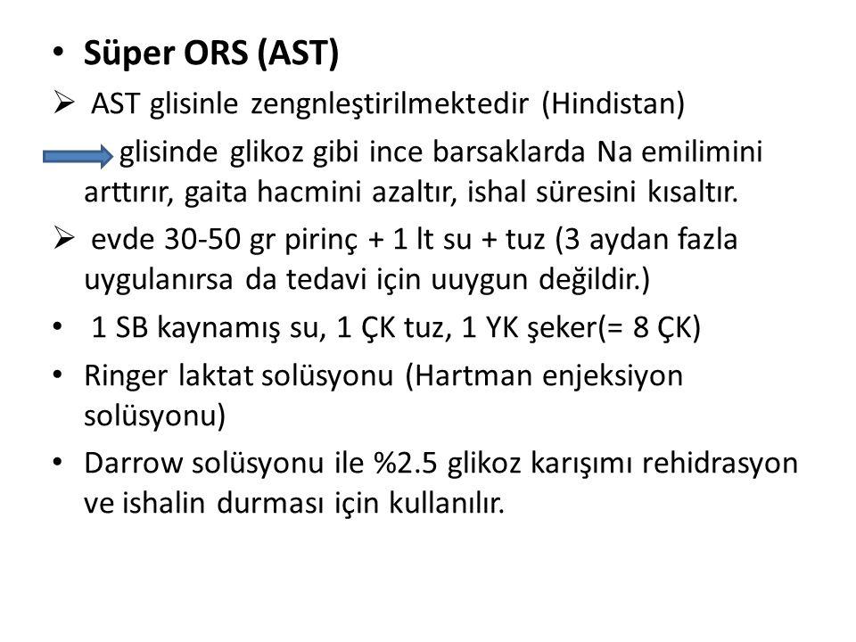 Süper ORS (AST) AST glisinle zengnleştirilmektedir (Hindistan)