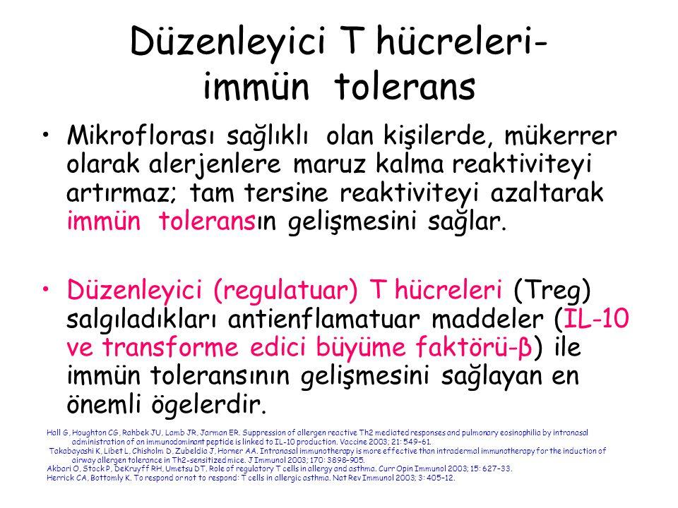 Düzenleyici T hücreleri- immün tolerans