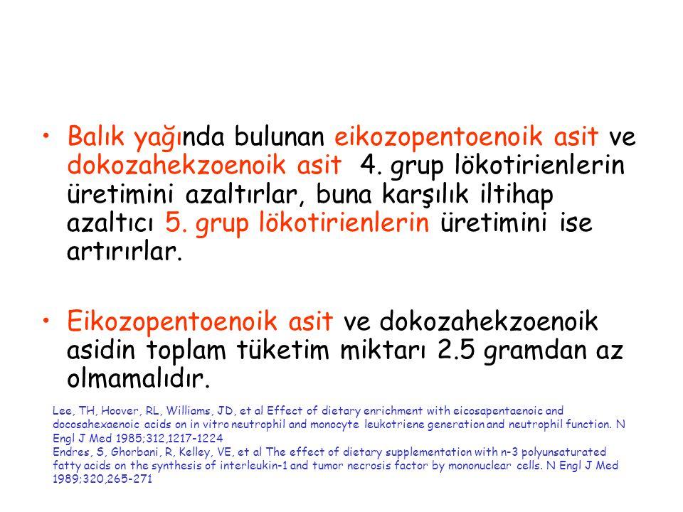 Balık yağında bulunan eikozopentoenoik asit ve dokozahekzoenoik asit 4