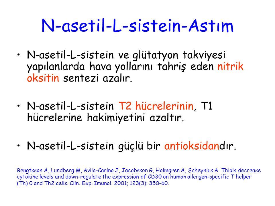 N-asetil-L-sistein-Astım
