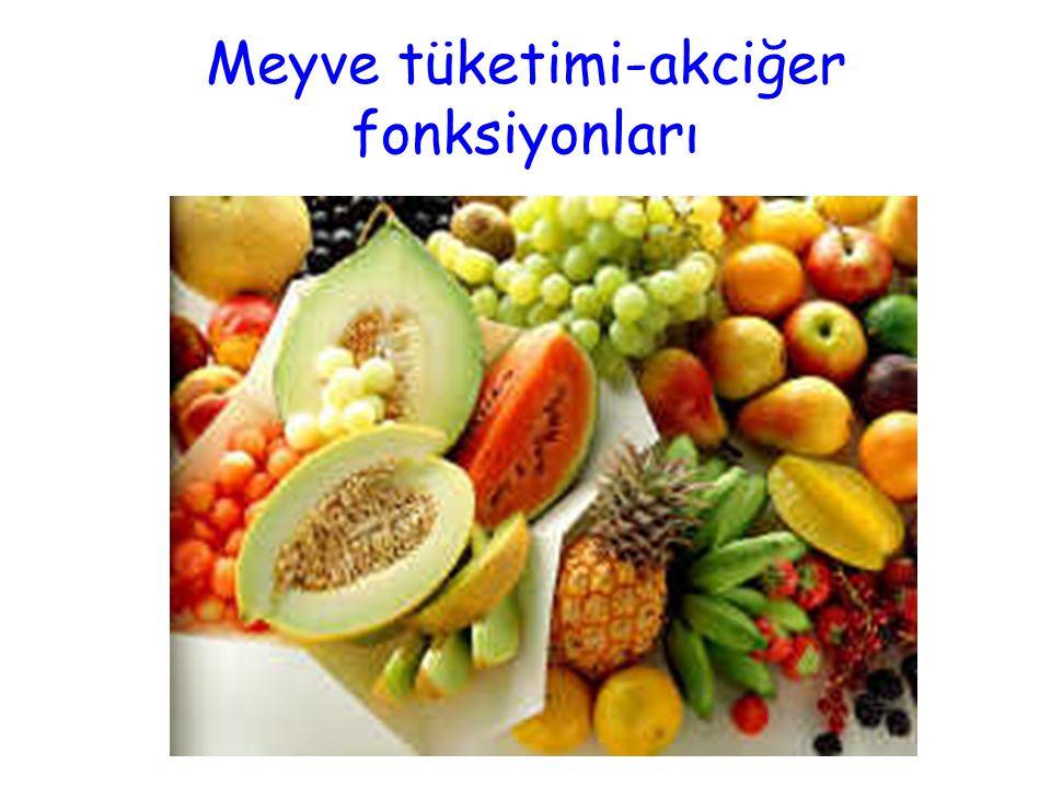 Meyve tüketimi-akciğer fonksiyonları