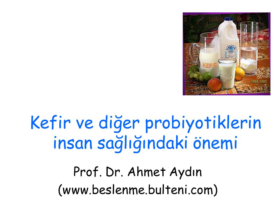 Kefir ve diğer probiyotiklerin insan sağlığındaki önemi
