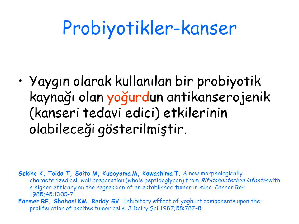 Probiyotikler-kanser